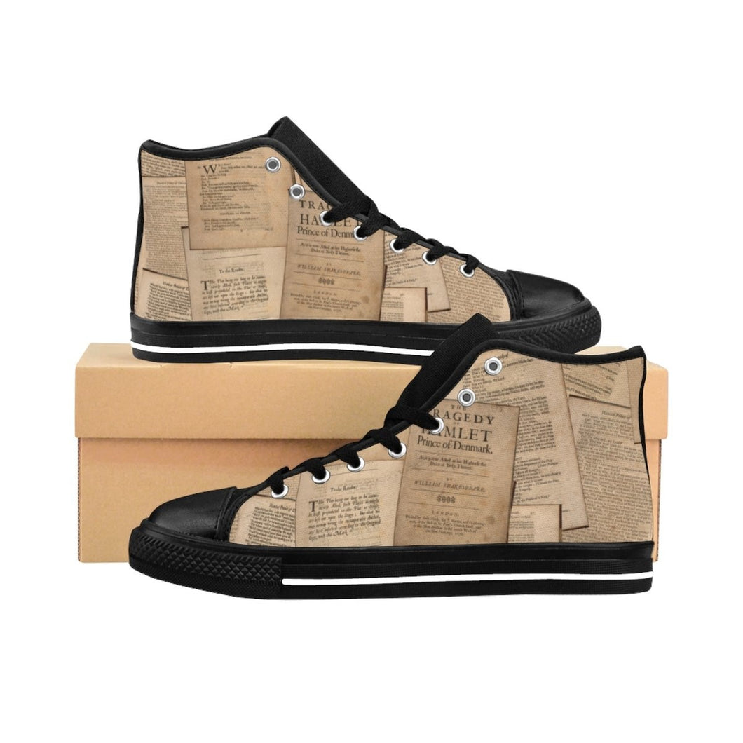 Shakespeare Hamlet - Mens High-Top Sneakers Us 10 Men Shoes