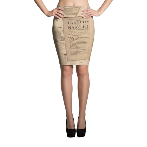 Shakespeare Hamlet - Pencil Skirt Xs Women