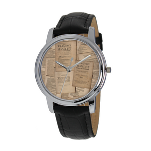 Shakespeare Hamlet Quartz Watch With Leather Band