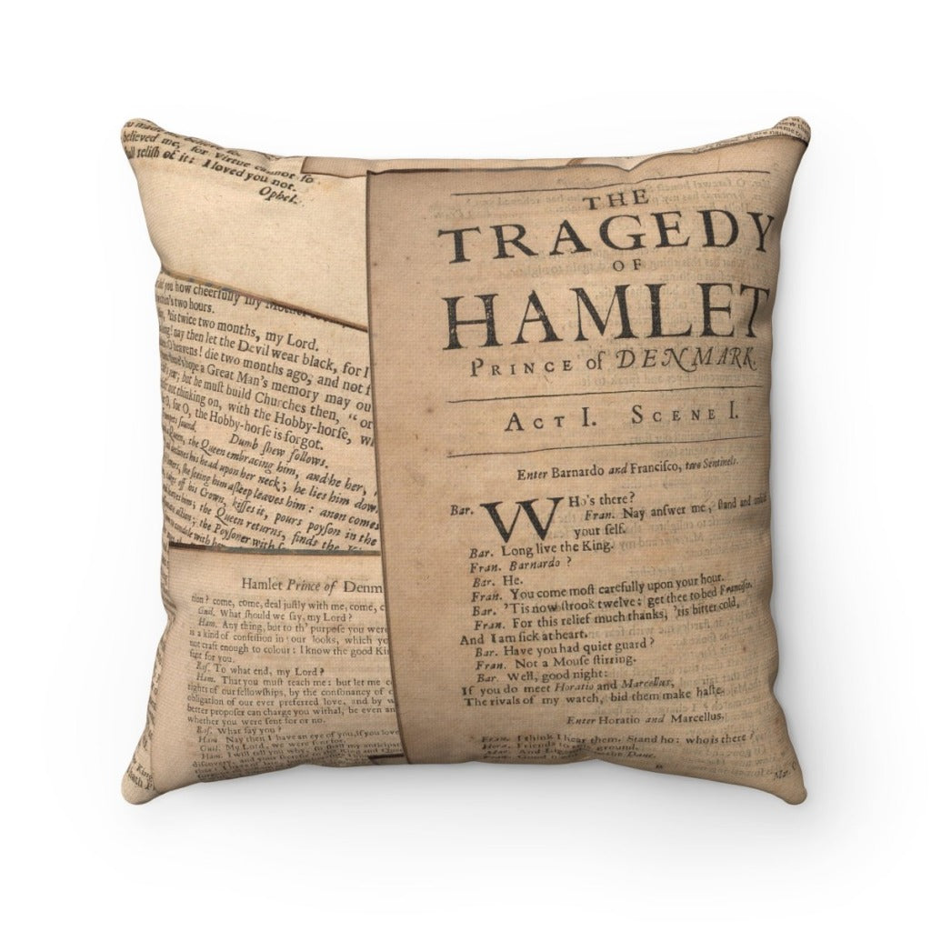 Shakespeare Hamlet - Spun Polyester Square Pillow 14X14 Home Decor