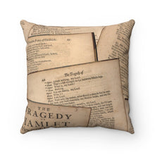 Shakespeare Hamlet - Spun Polyester Square Pillow Home Decor