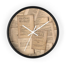 Shakespeare Hamlet - Wall Clock 10 In / Black / White Home Decor