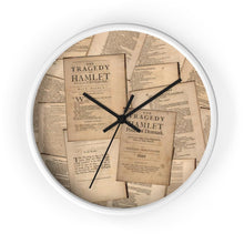 Shakespeare Hamlet - Wall Clock 10 In / White / Black Home Decor