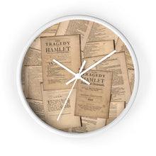 Shakespeare Hamlet - Wall Clock 10 In / White / White Home Decor