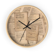 Shakespeare Hamlet - Wall Clock 10 In / Wooden / Black Home Decor