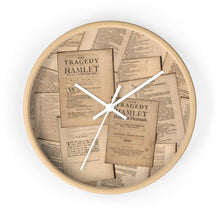 Shakespeare Hamlet - Wall Clock 10 In / Wooden / White Home Decor