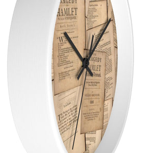 Shakespeare Hamlet - Wall Clock Home Decor