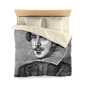Shakespeare - Microfiber Duvet Cover Cream Home Decor