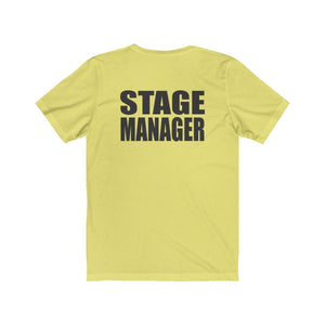 """Stage Manager"" - Unisex Jersey Short Sleeve Tee - Theatre Geek Shirts & Apparel"