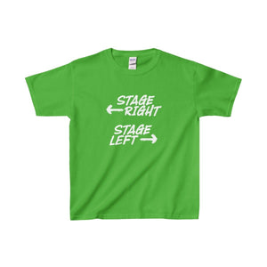 """Stage Right Stage Left"" - Youth Heavy Cotton Tee - Theatre Geek Shirts & Apparel"