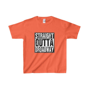Straight Outta Broadway - Youth Heavy Cotton Tee Orange / Xs Kids Clothes