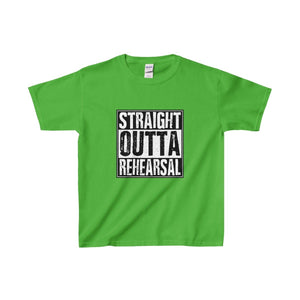 Straight Outta Rehearsal - Youth Heavy Cotton Tee Electric Green / Xs Kids Clothes
