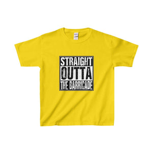 Straight Outta The Barricade - Youth Heavy Cotton Tee Daisy / Xs Kids Clothes