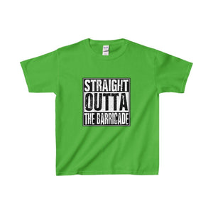 Straight Outta The Barricade - Youth Heavy Cotton Tee Electric Green / Xs Kids Clothes