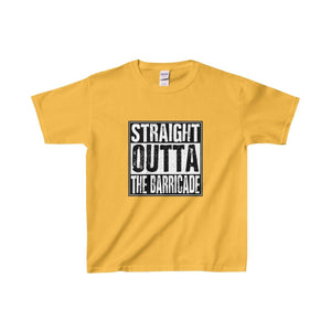 Straight Outta The Barricade - Youth Heavy Cotton Tee Gold / Xs Kids Clothes