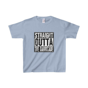 Straight Outta The Barricade - Youth Heavy Cotton Tee Light Blue / Xs Kids Clothes