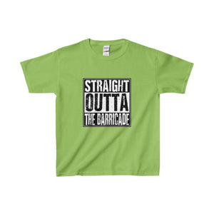 Straight Outta The Barricade - Youth Heavy Cotton Tee Lime / Xs Kids Clothes