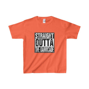 Straight Outta The Barricade - Youth Heavy Cotton Tee Orange / Xs Kids Clothes