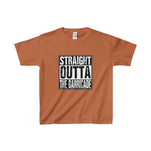 Straight Outta The Barricade - Youth Heavy Cotton Tee Texas Orange / Xs Kids Clothes