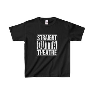 Straight Outta Theatre - Youth Heavy Cotton Tee Black / Xs Kids Clothes
