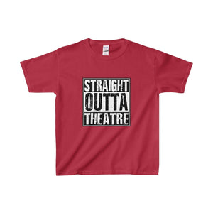 Straight Outta Theatre - Youth Heavy Cotton Tee Cardinal Red / Xs Kids Clothes