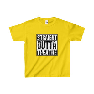Straight Outta Theatre - Youth Heavy Cotton Tee Daisy / Xs Kids Clothes