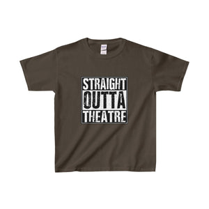 Straight Outta Theatre - Youth Heavy Cotton Tee Dark Chocolate / Xs Kids Clothes