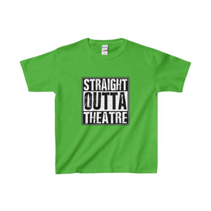 Straight Outta Theatre - Youth Heavy Cotton Tee Electric Green / Xs Kids Clothes