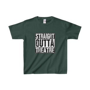 Straight Outta Theatre - Youth Heavy Cotton Tee Forest Green / Xs Kids Clothes