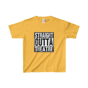 Straight Outta Theatre - Youth Heavy Cotton Tee Gold / Xs Kids Clothes
