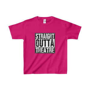 Straight Outta Theatre - Youth Heavy Cotton Tee Heliconia / Xs Kids Clothes