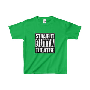 Straight Outta Theatre - Youth Heavy Cotton Tee Irish Green / Xs Kids Clothes