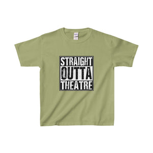 Straight Outta Theatre - Youth Heavy Cotton Tee Kiwi / Xs Kids Clothes