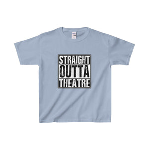 Straight Outta Theatre - Youth Heavy Cotton Tee Light Blue / Xs Kids Clothes