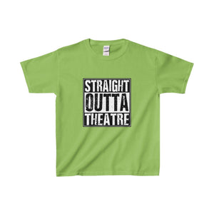 Straight Outta Theatre - Youth Heavy Cotton Tee Lime / Xs Kids Clothes