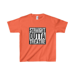 Straight Outta Theatre - Youth Heavy Cotton Tee Orange / Xs Kids Clothes