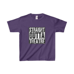 Straight Outta Theatre - Youth Heavy Cotton Tee Purple / Xs Kids Clothes
