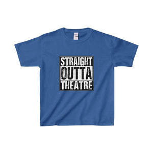 Straight Outta Theatre - Youth Heavy Cotton Tee Royal / Xs Kids Clothes