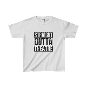 Straight Outta Theatre - Youth Heavy Cotton Tee Sport Grey / Xs Kids Clothes