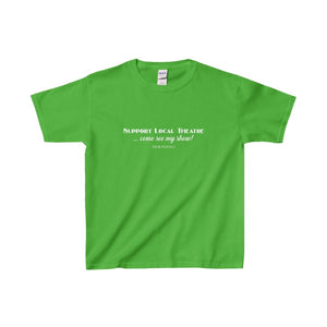 Support Local Theatre - Youth Heavy Cotton Tee Electric Green / Xs Kids Clothes
