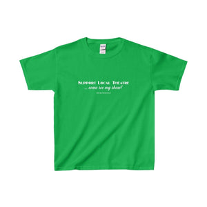 Support Local Theatre - Youth Heavy Cotton Tee Irish Green / Xs Kids Clothes