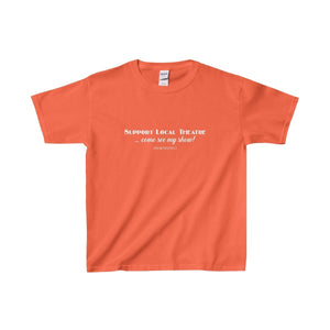 Support Local Theatre - Youth Heavy Cotton Tee Orange / Xs Kids Clothes