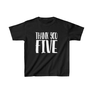 Thank You Five - Youth Heavy Cotton Tee Black / Xs Kids Kids Clothes