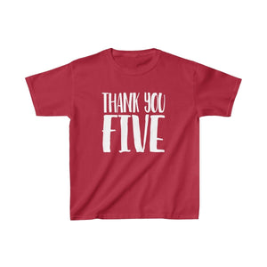 Thank You Five - Youth Heavy Cotton Tee Cardinal Red / Xs Kids Kids Clothes