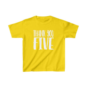 Thank You Five - Youth Heavy Cotton Tee Daisy / Xs Kids Kids Clothes