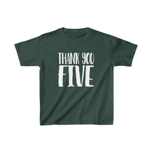 Thank You Five - Youth Heavy Cotton Tee Forest Green / Xs Kids Kids Clothes