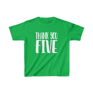 Thank You Five - Youth Heavy Cotton Tee Irish Green / Xs Kids Kids Clothes