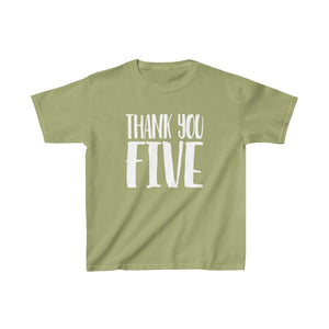 Thank You Five - Youth Heavy Cotton Tee Kiwi / Xs Kids Kids Clothes