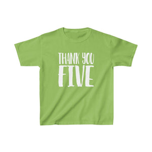 Thank You Five - Youth Heavy Cotton Tee Lime / Xs Kids Kids Clothes