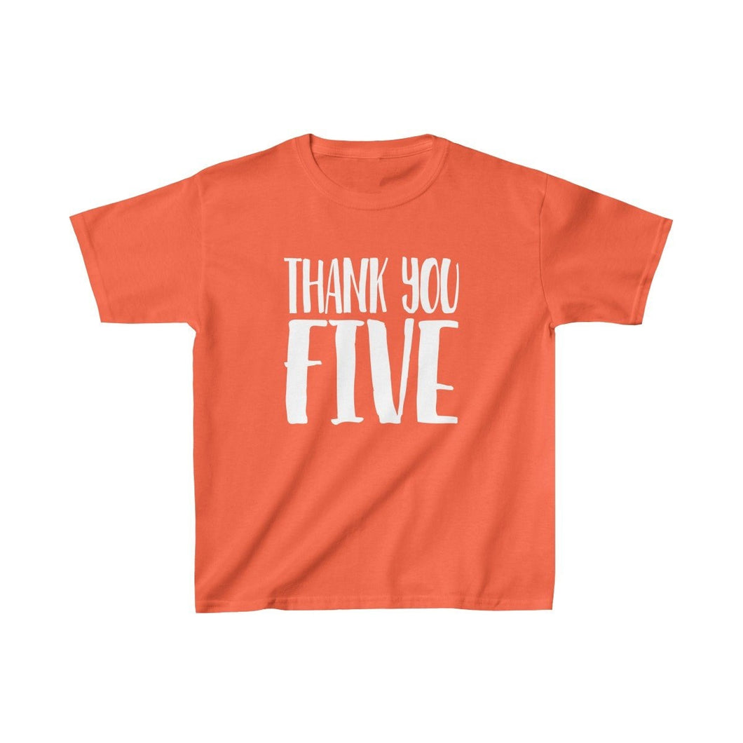 Thank You Five - Youth Heavy Cotton Tee Orange / L Kids Kids Clothes